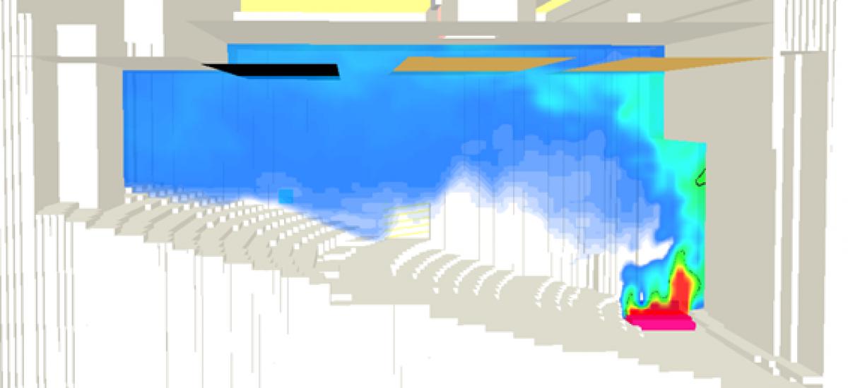 Application de l'ingénierie du désenfumage à la grande salle du théâtre Bonlieu d'Annecy