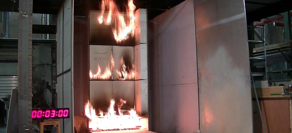 Study of fire behaviour of building facades