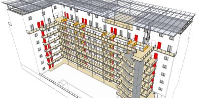 Etude de mise en sécurité des coursives extérieures du bâtiment AMPLIA