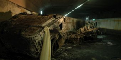 Ongeluk vrachtwagen in de Heinenoordtunnel