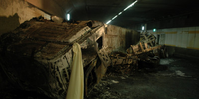 Truck fire in the Heinenoordtunnel