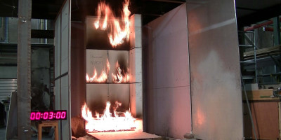 Study of fire behaviour of building facades