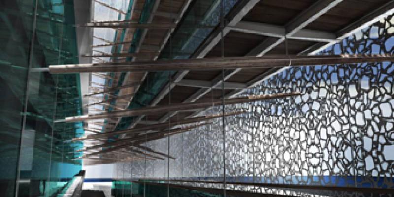Musée des Civilisations de l'Europe et de la Méditerranée de Marseille - Etude d'ingénierie incendie sur les passerelles en structure acier