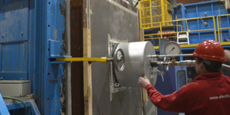 Industrial burner testing at Efectis