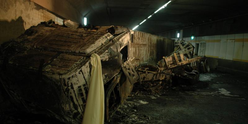 Truck fire in the Heinenoordtunnel